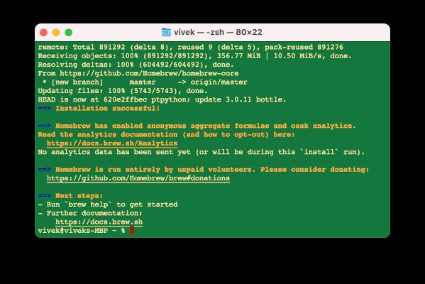 Instalación de Homebrew en una Mac