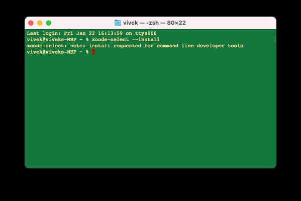 Instalación de xcode en macOS