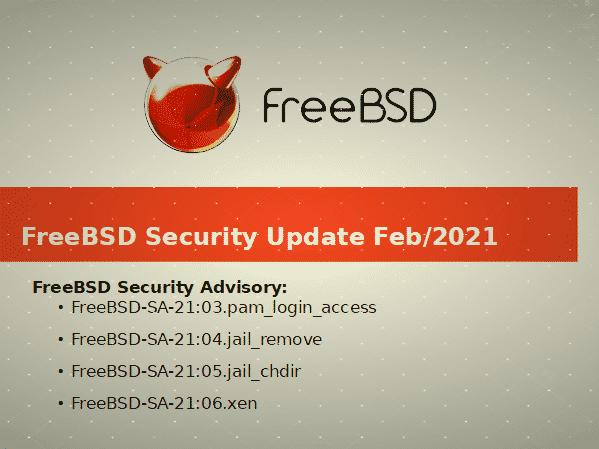 Lanzamiento de las correcciones de seguridad de FreeBSD jail, xen y .pam_login_access