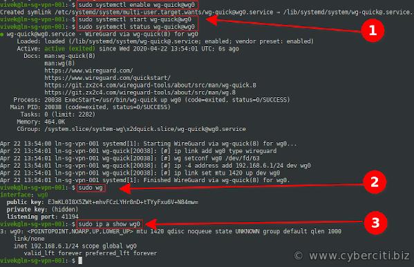 Ubuntu 20.04 LTS configura WireGuard y comandos de verificación