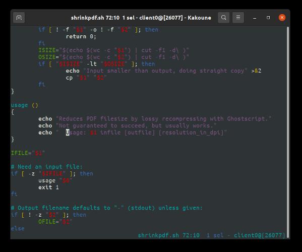 Editores de texto Kakoune CLI para usuarios de Linux macos Unix bsd
